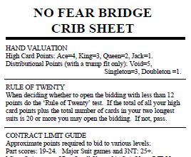 Bridge cheat sheet
